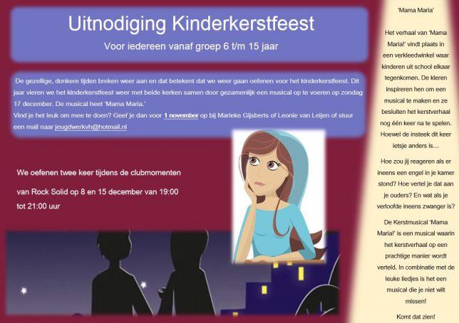 Uitnodiging kinderkerstfeest 2017 jeugd