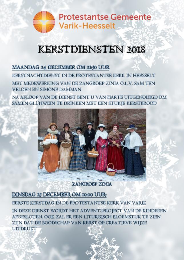 Uitnodiging kerstdiensten 2018