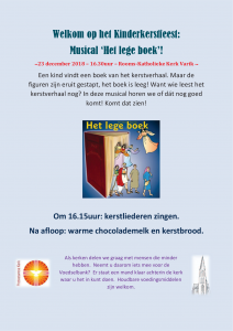 Uitnodiging kinderkerstfeest 2018