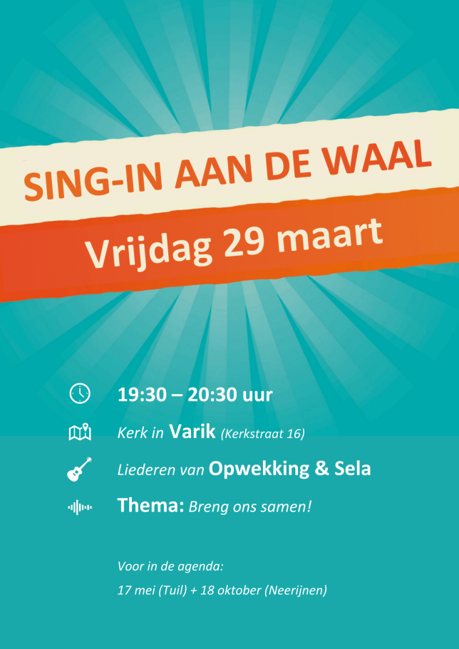 Sing-in aan de Waal @ Kerk Varik