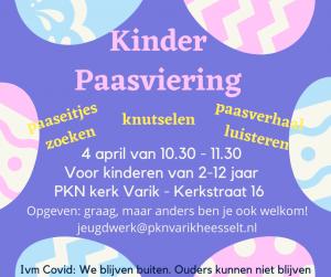 Doe ook mee met de kinder Paasviering!